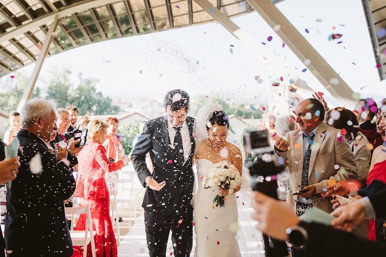 marques de riscal boda en la bodega