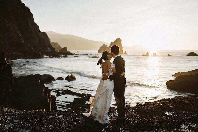 novios boda costa vasca